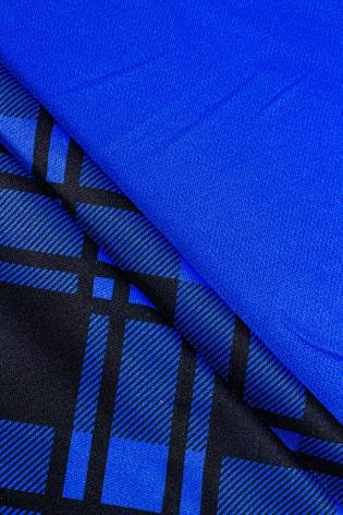 copy of Polyester dress fabric blue with sublimation printing - 160cm 150g / m2 - 1